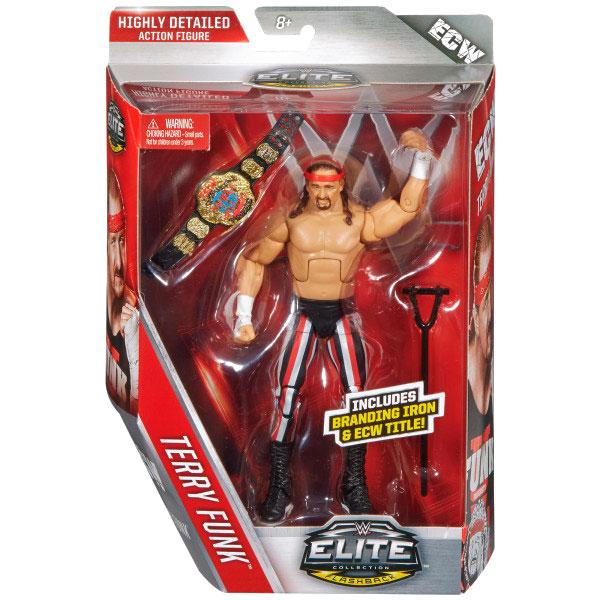 WWE Mattel Elite 41 Flashback Terry Funk Wrestling Figure ECW