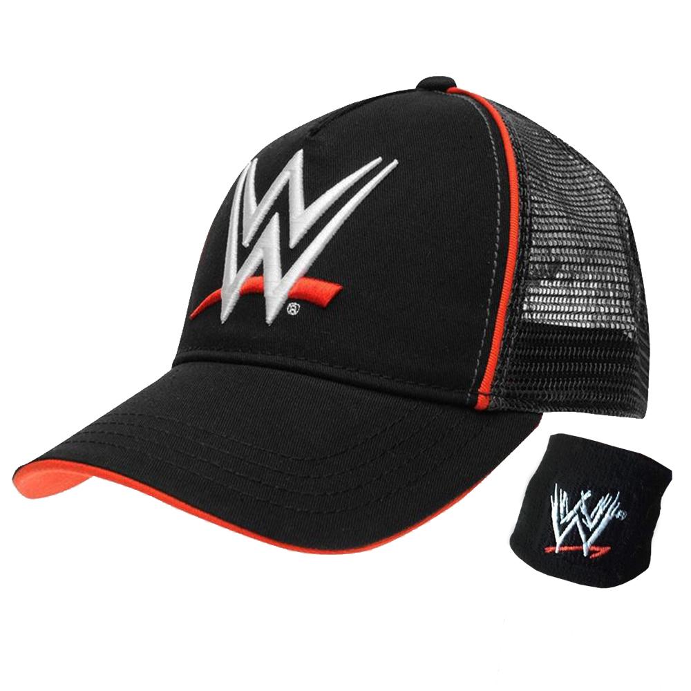 WWE LOGO Baseball Cap & Wristband Set (Junior Boys)