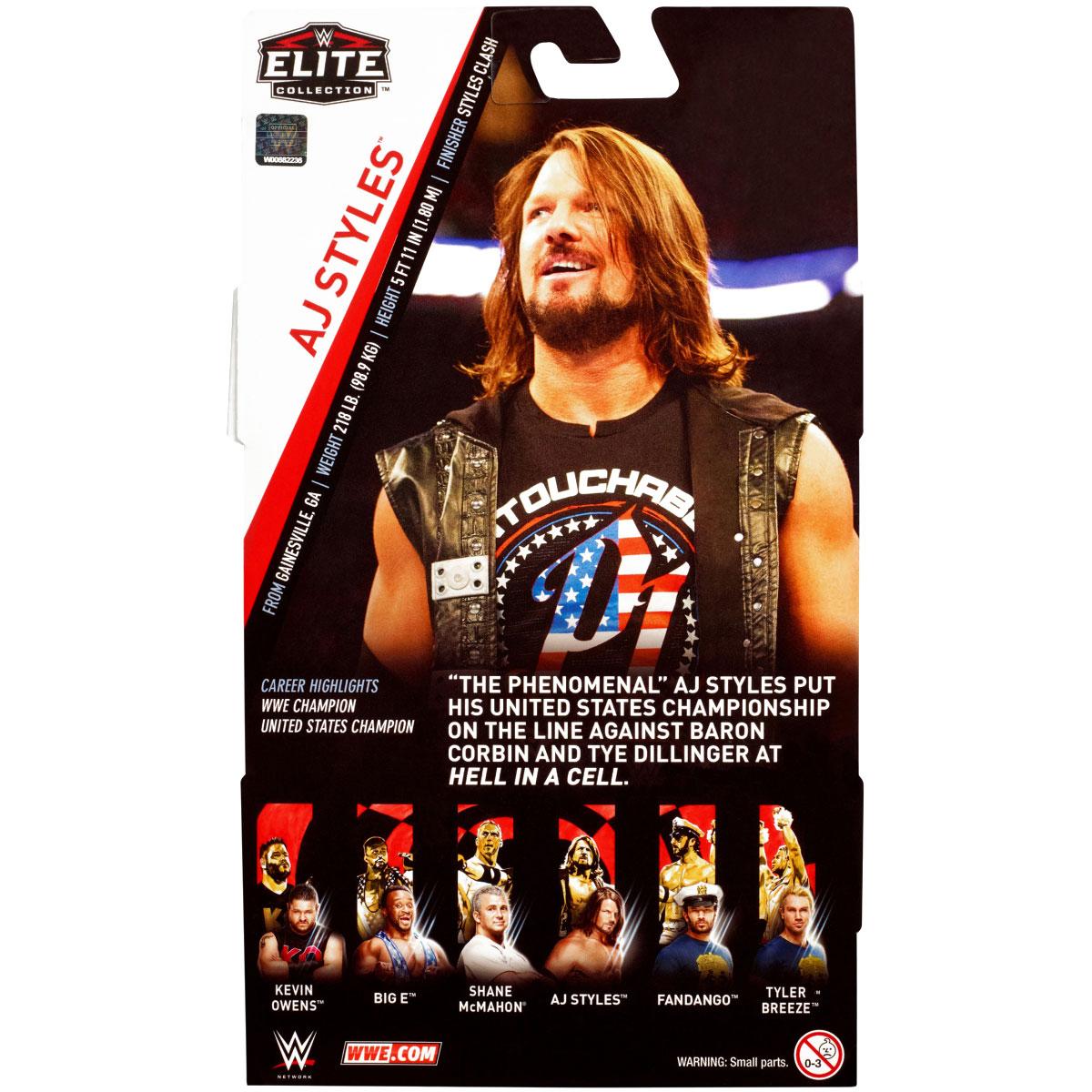 WWE Mattel AJ Styles Elite Series #61 Figure