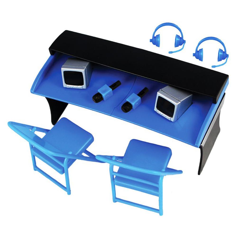 Ringside Exclusive Wrestling Figure Accessories Commentators Playset Blue